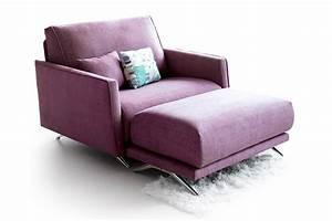 fauteuil 2 places tissu pieds chromes story With fauteuil trois places