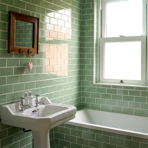bathroom tile colour ideas bathroom with green metro tiles decorating with tropical