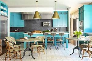 Ideas of how to use turquoise in a kitchen for Couleur qui va avec le gris clair
