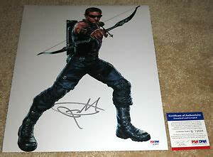 Jeremy Renner Signed The Avengers Hawkeye Psa Dna Ebay