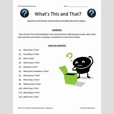 What's This And That? Reading Comprehension Test Collection  Have Fun Teaching