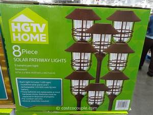 hgtv large solar pathway lights With outdoor solar lights at costco