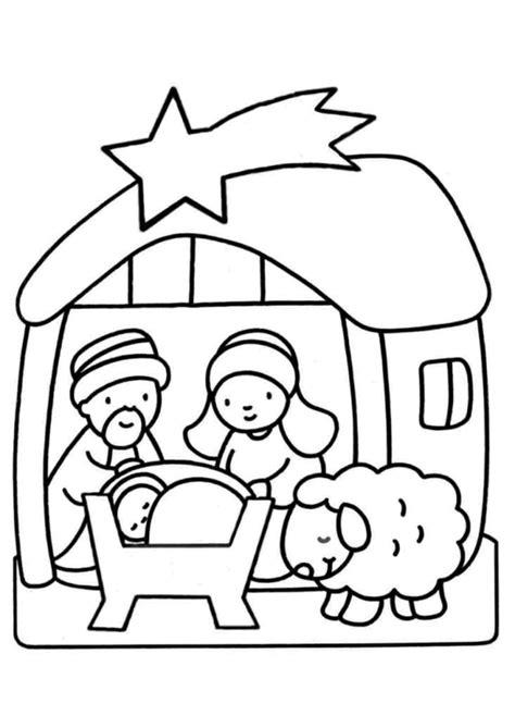 Kerststal Kleurplaat Peuters kerstmis godsdienstklas be