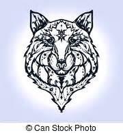 Tatouage Loup Celtique : loups celtique chiens d coratif celtique l ments clip art vectoriel rechercher des ~ Farleysfitness.com Idées de Décoration