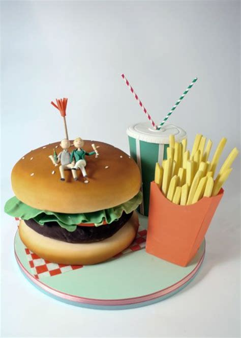 Burger And Fries  Charm City Cakes West  Cutey!! Aww ;d