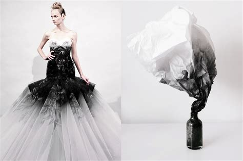 fantasy wedding dress  marchesa spring  smoke