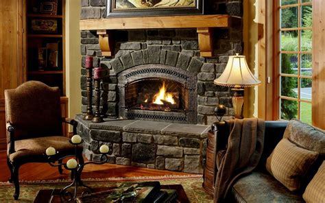 Awesome Rustic Fireplace Ideas With Wooden Mantel For