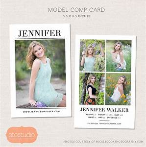model comp card photoshop template simple chic cm004 With free model comp card template psd