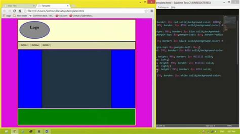 Template For Html Code How To Create Template Website By Using Code Html And Css