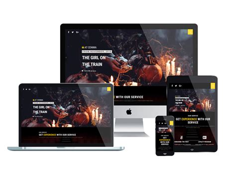 Theatre Responsive Website Template by At Cinema Onepage Free One Page Movie Theater Website