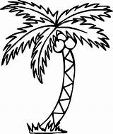 Palm Tree Printable Template Coloring Remarkable sketch template