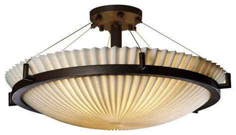 asian porcelina black pleated 20 1 2 quot wide ceiling light