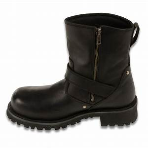 Men 39 S Motorcycle Boots Pure Leather 6 Inch Engineer Boot