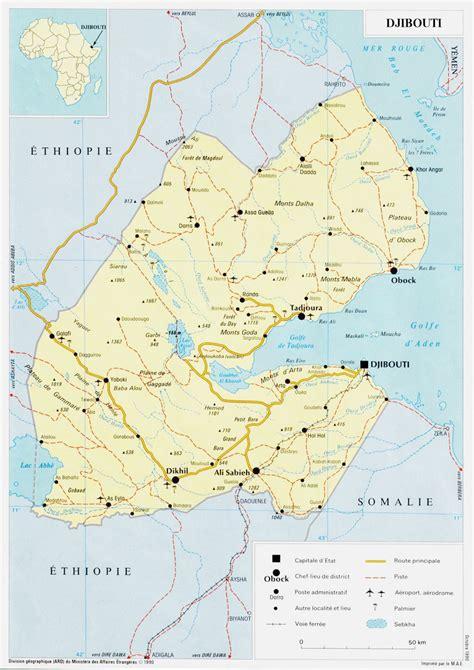 maps  djibouti map library maps   world