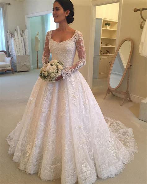 Long Sleeves Wedding Gownslace Wedding Dressesprincess