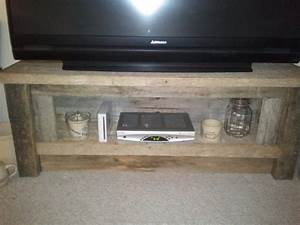 reclaimed barn wood tv stand 47500 via etsy want With barn board tv stand