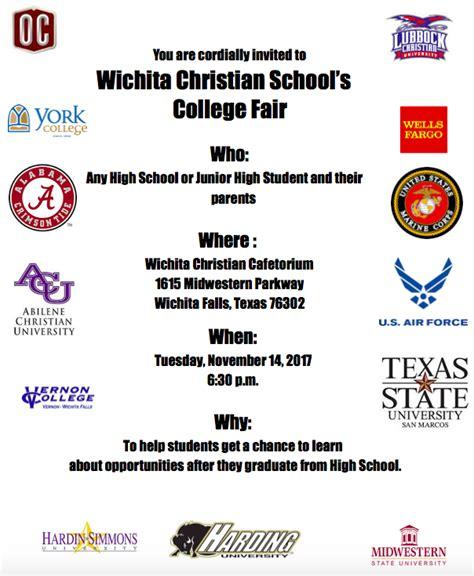 wichita christian college fair nov