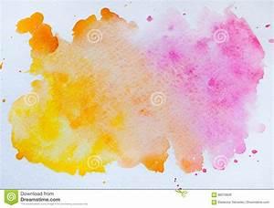 Tache De Couleur Peinture Fond Blanc : tache d 39 aquarelle d 39 isolement sur le fond blanc wa rose et orange illustration stock ~ Melissatoandfro.com Idées de Décoration