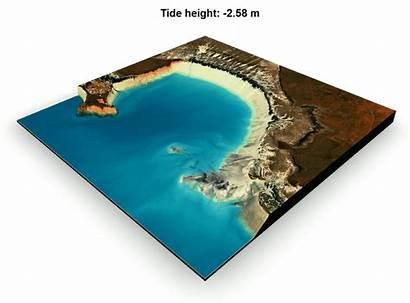Mapping Land Tides Between Landsat Intertidal Satellite