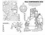 Conference Coloring General Fall Activities Pages Sheets Sheet Sunday Activity Primary Gospel Packets Mormon Printables Conf Sided Easter Church Themormonhome sketch template