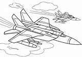 Coloring Fighter Plane Aircraft War Boys Atv Raskraski Coloringtop sketch template