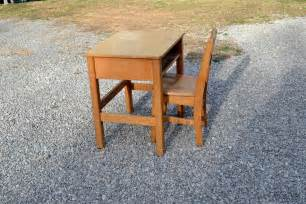 reserved vintage school desk and chair wood child kid size