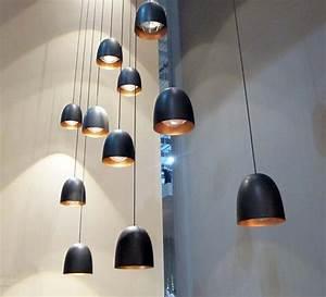 Luminaire 3 Suspensions : suspension speers noir cuivre h11 5cm b lux luminaires nedgis ~ Teatrodelosmanantiales.com Idées de Décoration