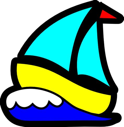 Sailing Boat Cartoon Pictures by Sailboat Clip Art At Clker Vector Clip Art Online