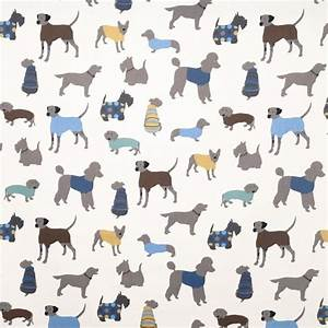 Doggy Days Fabric - Eclectic - Upholstery Fabric - by