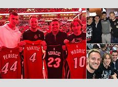 Luka Modric and Croatia squad attend Miami Heat vs New