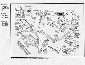 Parts List For 1967 Schwinn Racer 3 Speed