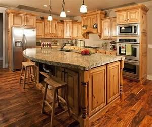 Install Hickory Kitchen Cabinets Modern Kitchen