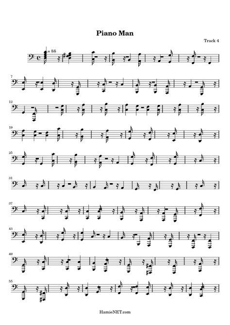 Want to make piano man (c harmonica) sound awesome on your harmonica? Piano Man Sheet Music - Piano Man Score • HamieNET.com