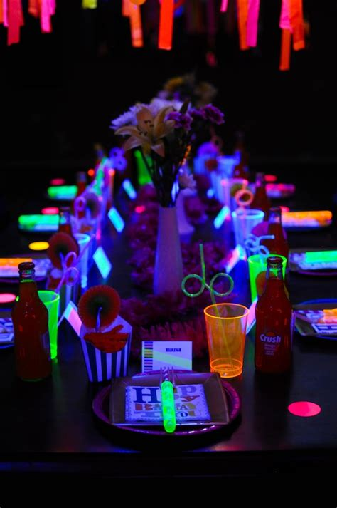 Kara's Party Ideas Neon Glow In The Dark Teen Birthday. Rooms For Rent In Asheville Nc. Dining Room Chair Styles. Office Decorations. Bar Height Dining Room Table. Weight Room Mats. Laser Cut Decorative Metal Panels. House Decorating Ideas. Decorative Fluorescent Light Panels