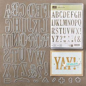 Kathryn39s stampin39 world letters for you and large for Large letter dies