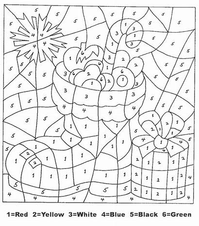 Christmas Number Numbers Holiday Crafts Coloring Pages