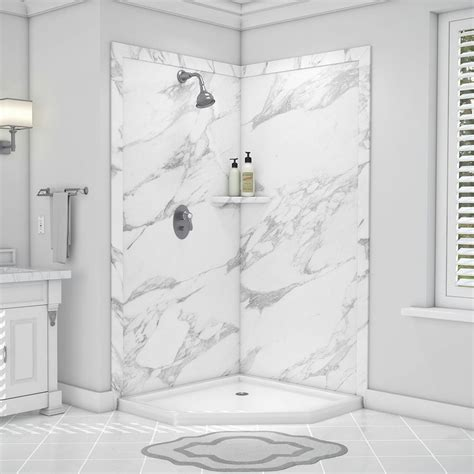 shower surrounds flexstone splendor 40 in x 40 in x 80 in 7 easy
