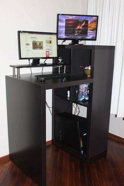 expedit workstation  small form standing desk ikea