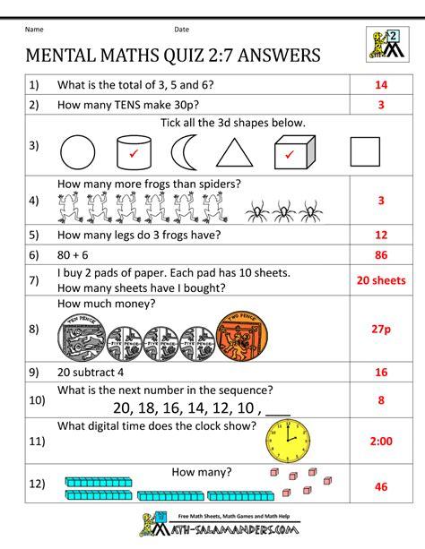 printable mental maths year  worksheets