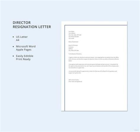 sample director resignation letters   sample