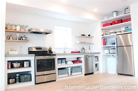 how to build open cabinets homemade modern ep88 kitchen shelves