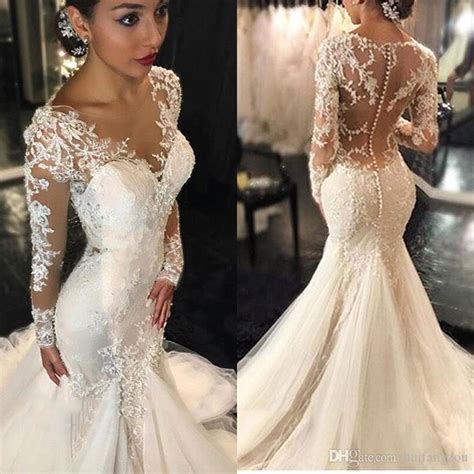 lace fit and flare dress vintage 2017 lace mermaid wedding dresses sleeves