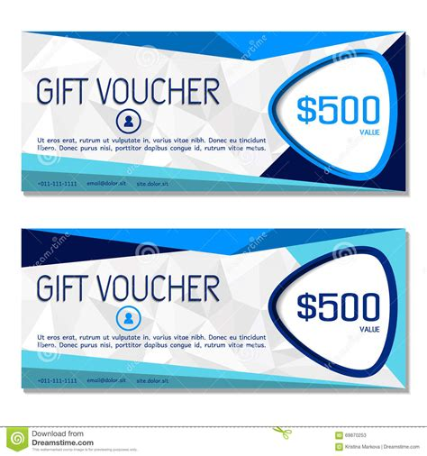 gift coupon template gift voucher coupon and voucher template for company corporate stock vector image 69870253
