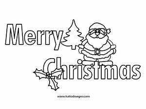 Merry Christmas da colorare - Tutto Disegni