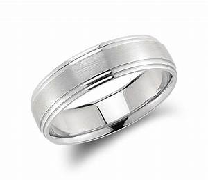 Double cut comfort fit wedding ring in palladium 6mm for Palladium wedding ring
