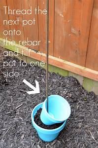 DIY Vertical Planter and Bird Bath Combo - Free Guide