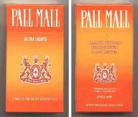 Pall Mall Orange Cigarettes