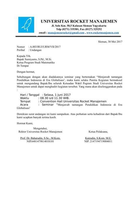 11 contoh surat undangan resmi dan tidak doc