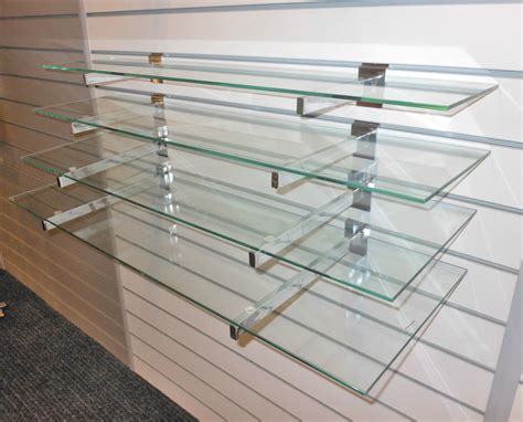 glass shelf 4 toughened glass shelves with or without slatwall