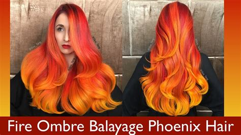 fire ombre balayage phoenix hair youtube